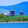 Photos: 大池(勝間田の池)と薬師寺