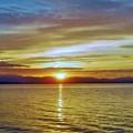 小川原湖の夕景