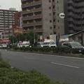 大阪市内交差点で交通事故