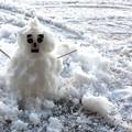 写真: ミニ雪だるま