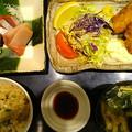 写真: カキフライ炊き込みご飯