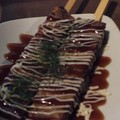 写真: お好み焼き串
