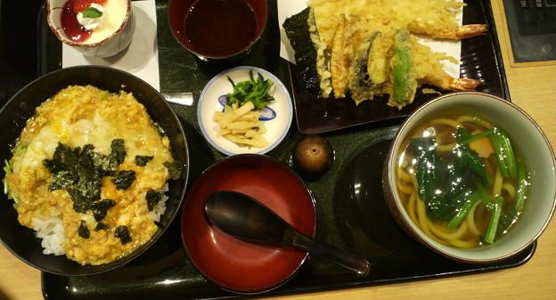 海老丼天ぷら膳
