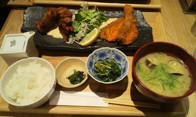 牡蠣フライ魚フライ