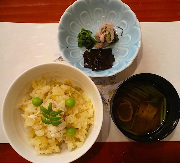 鯛と新生姜かやく御飯