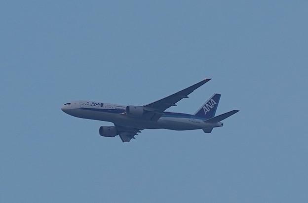 ANA機 伊丹へ着陸