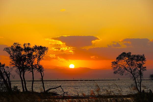 日の入り 湖北(滋賀県)