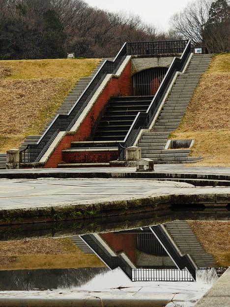 水中への階段