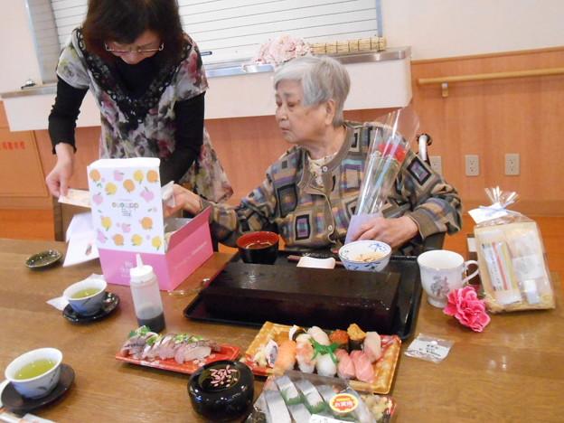 母の日に一緒にお寿司を食べてきました