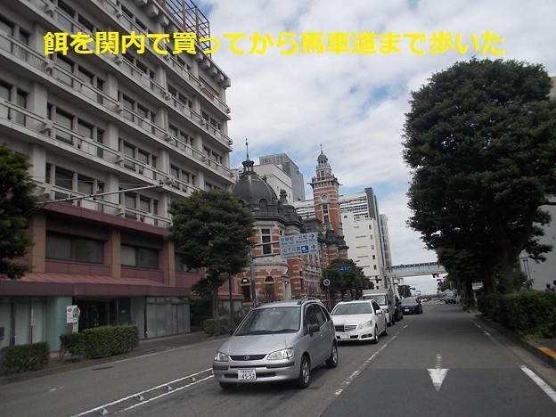横浜球場前から馬車道まで歩いた