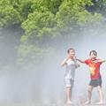 噴水の中へ~♪