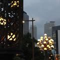 写真: 桜橋 街灯に灯が~♪