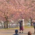 桜見物の人たち~♪
