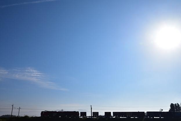 東北本線 秋空の朝1