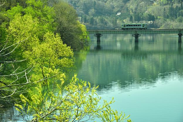 春の錦秋湖1