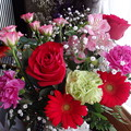 写真: お花をいただきましたよ