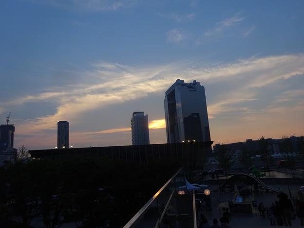今日の夕焼け@JR大阪北口20180716