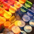 写真: 卓上の虹
