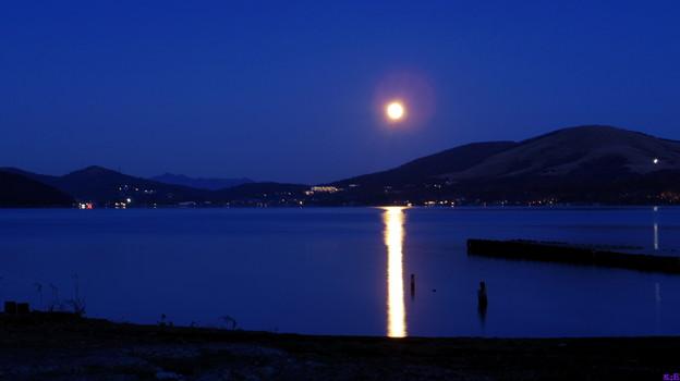 湖上の満月~山中湖