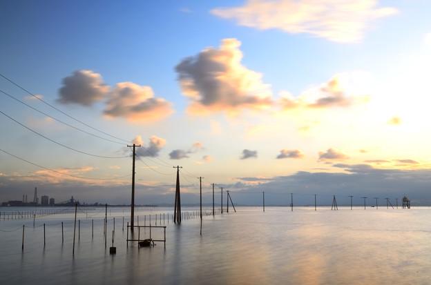 電柱海岸の隣の電柱海岸