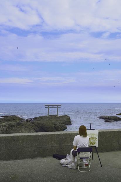 初秋に海を撮る僕描く君