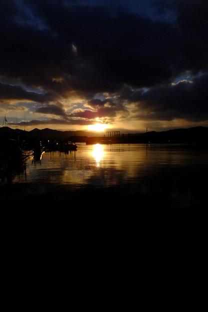 津軽半島の夜明け