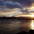 津軽半島の朝焼けその2、灯台もと暗し