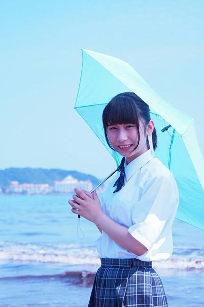 江ノ島にて、モデル望月玲奈さん
