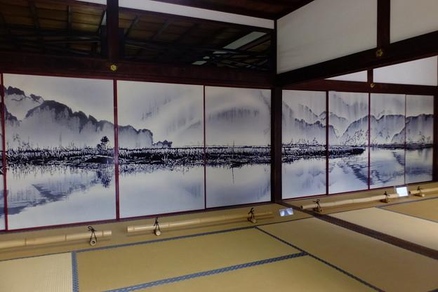 美しい襖絵、京都市祇園大本山建仁寺にて撮影