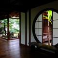 京都市祇園大本山建仁寺にて、源光庵の悟りの窓迷いの窓.泉涌寺雲龍院悟りの間の雰囲気を意識して撮影してみました