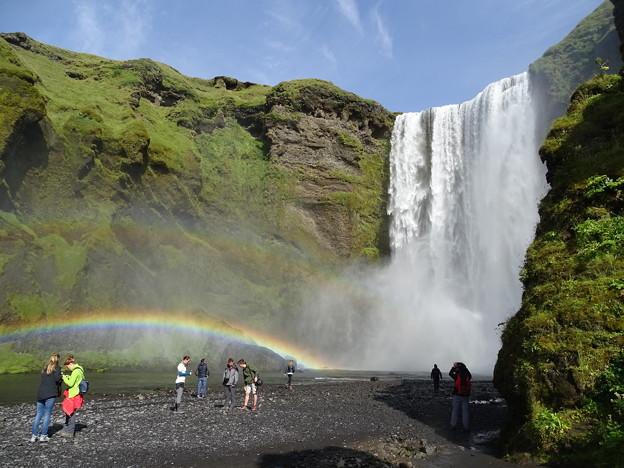27.二重の虹と滝(アイスランド)