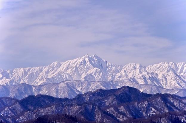 写真: 槍が岳周辺の山々