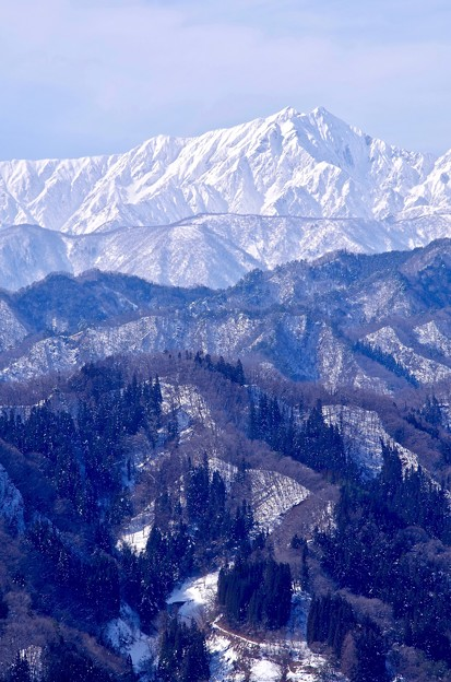 連なる峰々