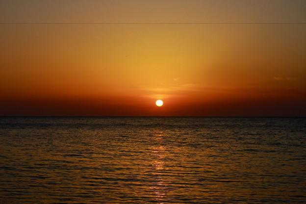 名立の夕陽