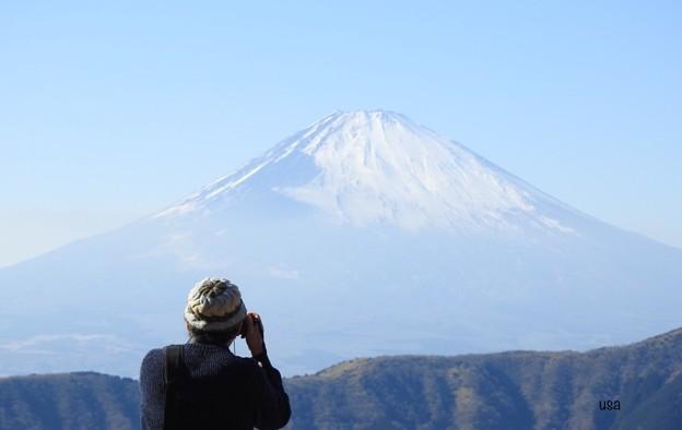 くまくんと、富士山
