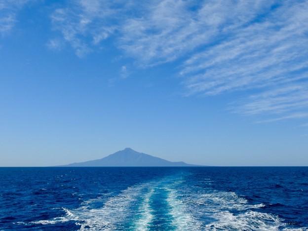 利尻富士へ続く道