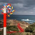 Photos: カラフル風車が、呼んでいる