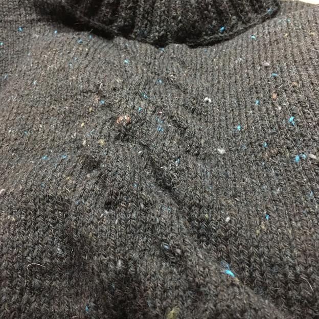 面白い編み目