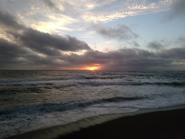 Photos: 日本海の夕陽20200807 06
