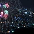 写真: 天狗山から/冬の花火