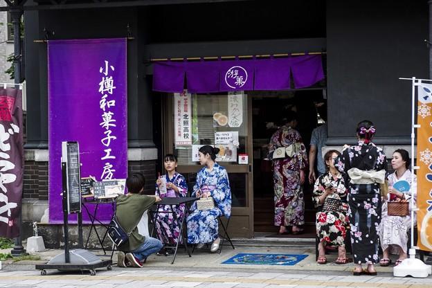 祭りの日/小樽寸景/浴衣