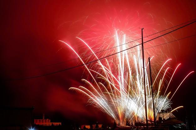 祭りの日/小樽寸景/red smoke