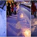 Photos: 雪明かりの路 *****