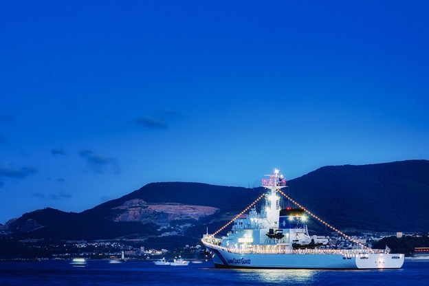 Coast Guard in blue hour