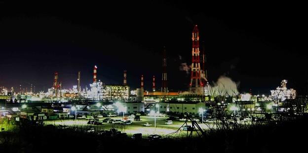 夜の鹿島臨海工業地帯