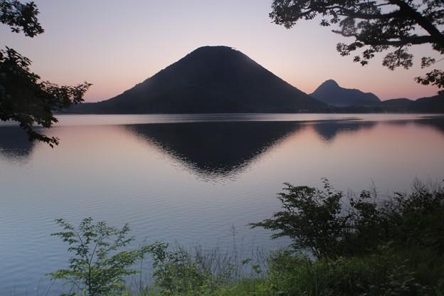 _朝の榛名富士