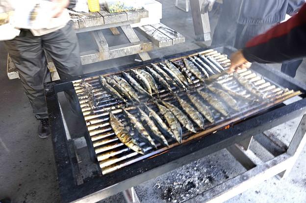 以前の秋刀魚焼