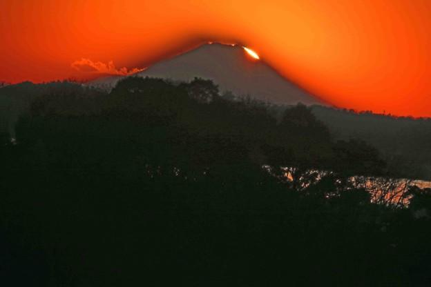 富士に沈む光景