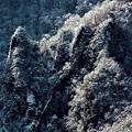 写真: 寒厳の岩肌