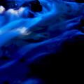 写真: 木漏れ日の渓流